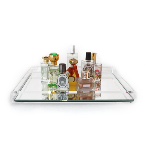 Alexandra Von Furstenberg Vanity Cocktail Clear Mirror Tray