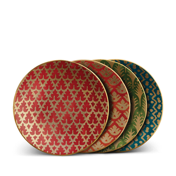 L'Objet Fortuny Assorted Plates of 4 in Multicolor