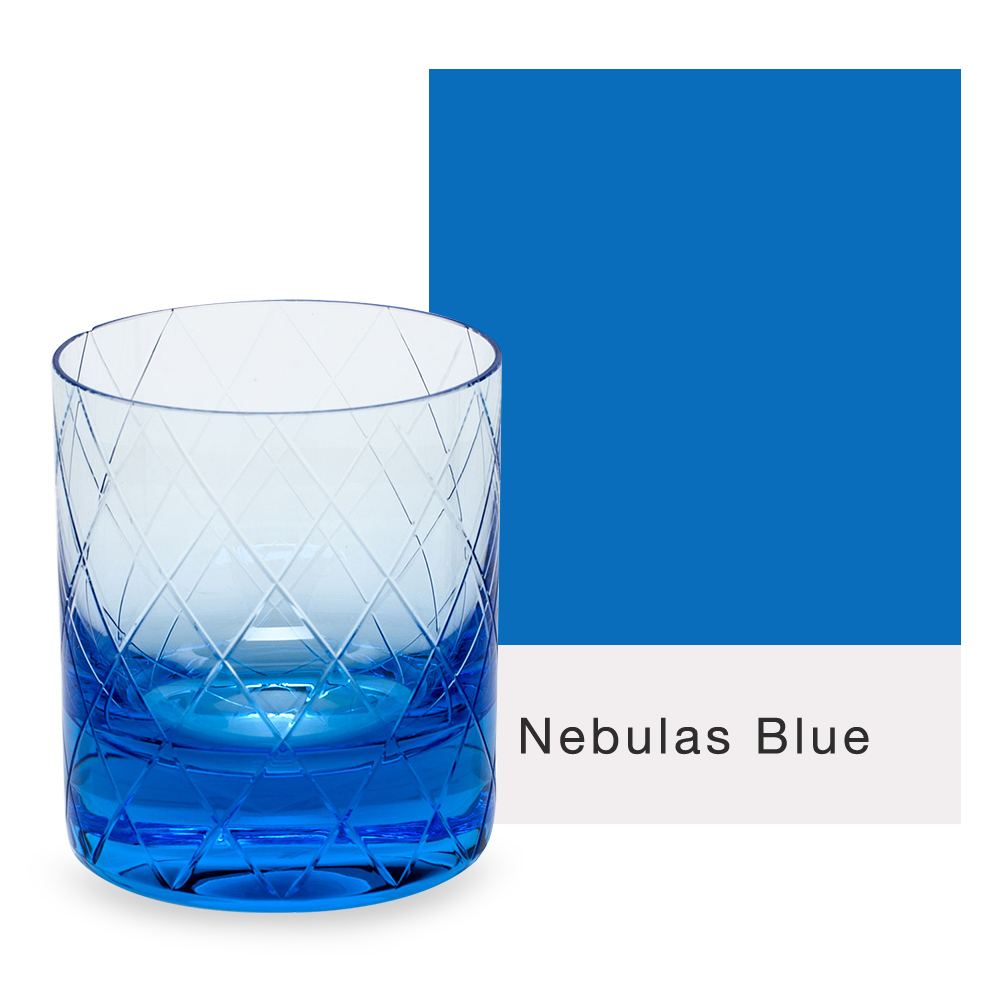 Moser Bonbon Double Old Fashioned Glass in blue