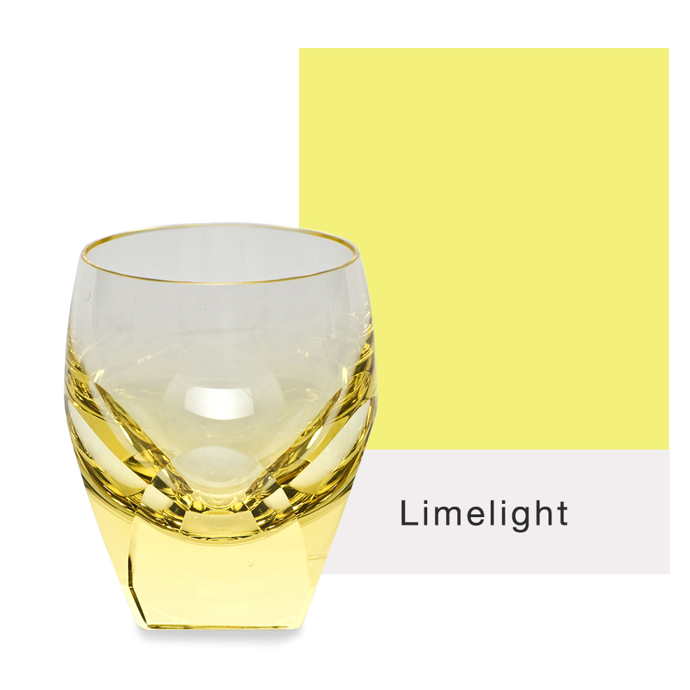 Moser Glass Bar Shot Glass in yellow