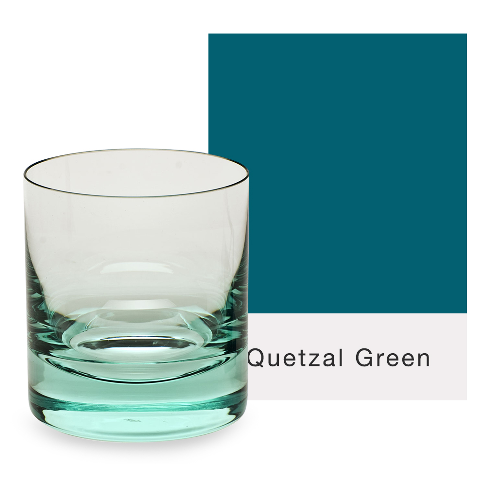 Moser Glass Whisky Double Old Fashioned Glass in green