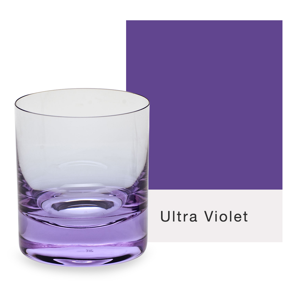 Moser Glass Bar Double Old Fashioned Glass in purple