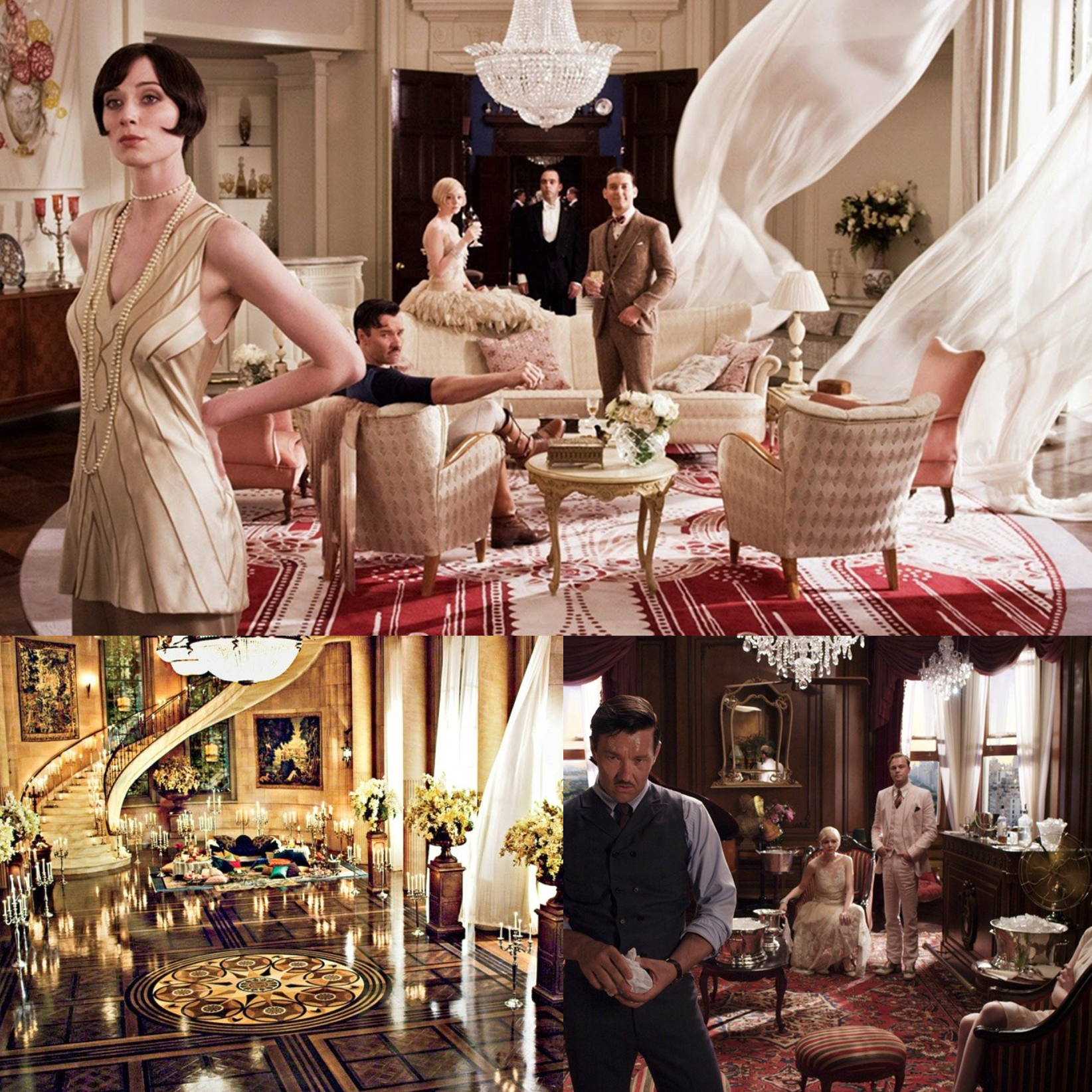The Great Gatsby interior collage for film home decor ideas