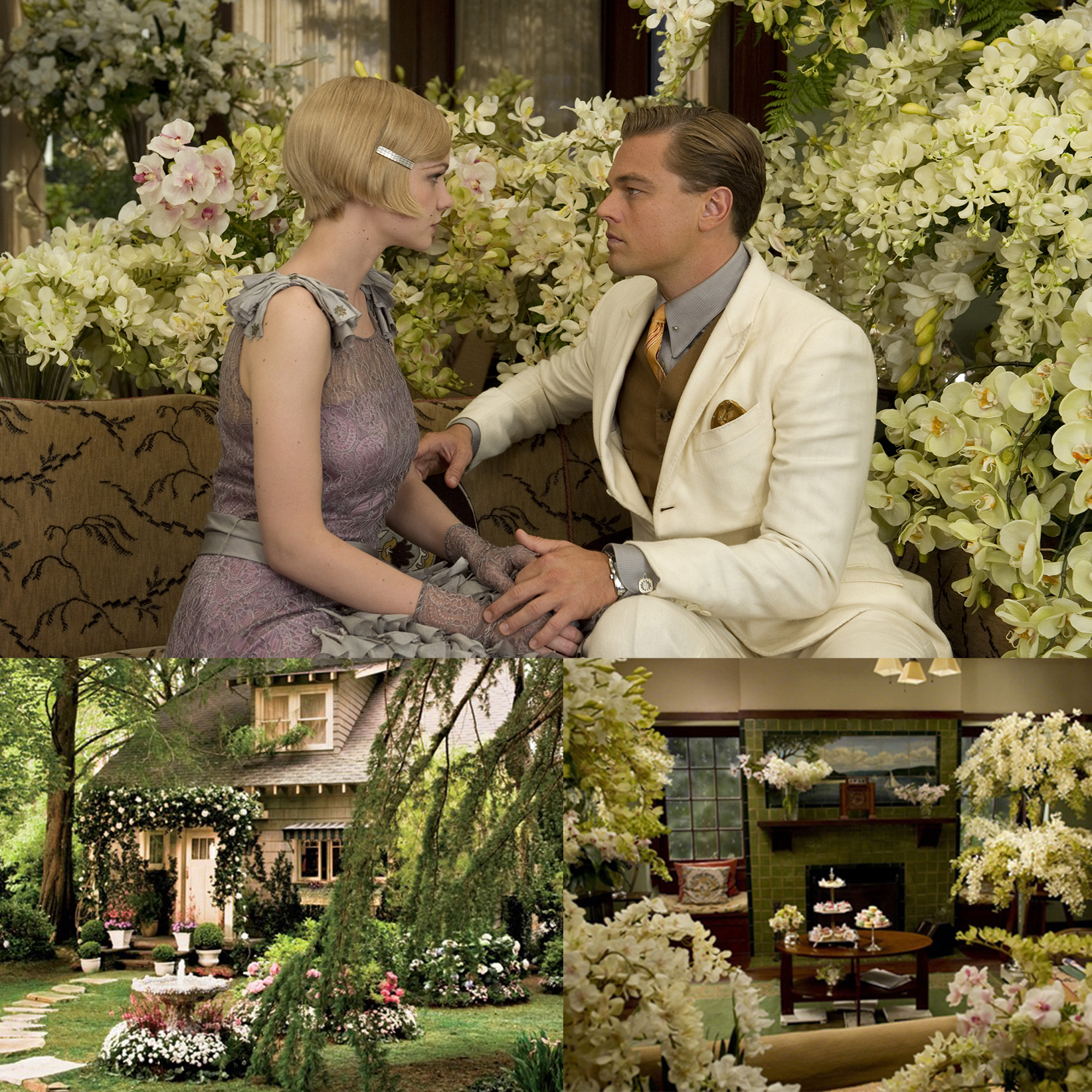 The Great Gatsby Interior 2 collage for film home decor ideas