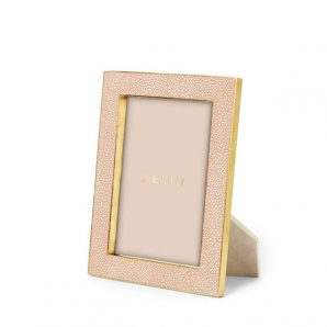 Aerin Classic Shagreen Frame in blush