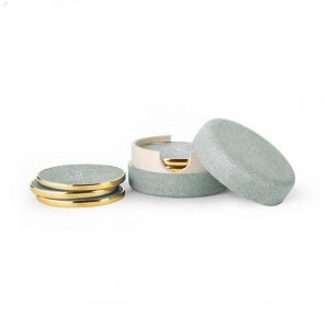 Aerin Shagreen Coasters Set of 4 in Mist