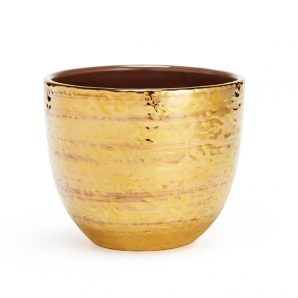 Aerin Textured Gold Small Chachepot