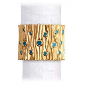L'Objet Bois D'Or Napkin Jewels Set Of 4