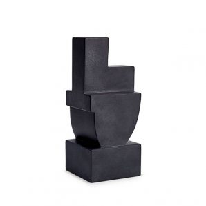 L'Objet Cubisme Bookend Two in Black