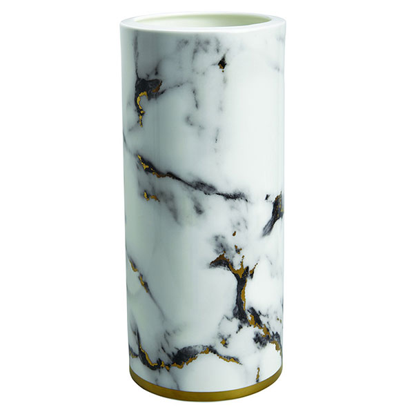 Prouna Marble Venice Fog 14 Inches Tall Vase