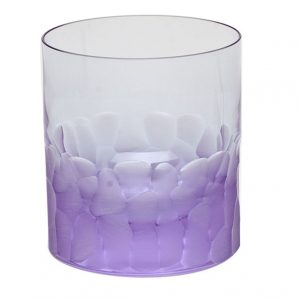 Moser Pebbles Old Fashioned Glass Purple