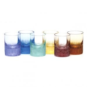 Moser Pebbles Shot Glass Rainbow Color