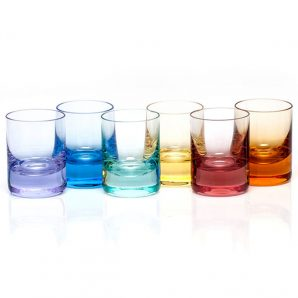 Moser Whisky Shot Glass Set-Of-6 Rainbow-Colors