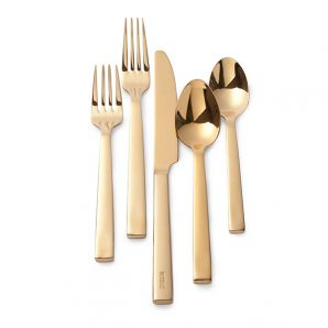 Ralph Lauren Academy 5 Piece Place Setting in gold