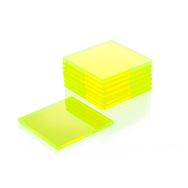 Alexandra Von Furstenberg Acrylic Coasters 8 Pack in Yellow
