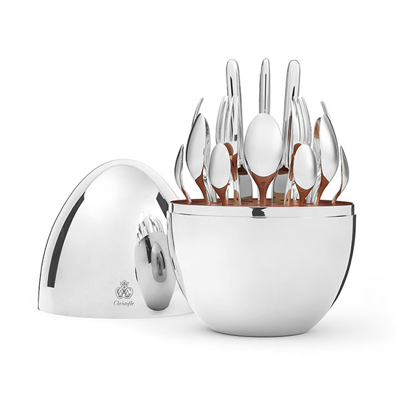 Christofle 24-Piece Silver Plated Flatware Set with Silver Storage Capsule