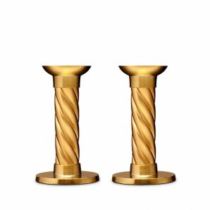 L'Objet gold carrousel small candlesticks set of 2