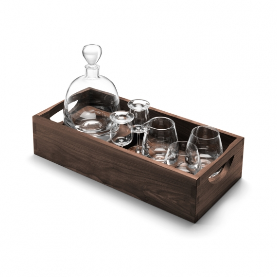 LSA International Whisky Islay Connoisseur Set & Walnut Tray