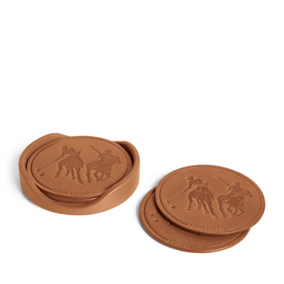 Ralph Lauren Garette Leather Coaster Set