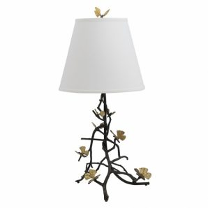 MICHAEL ARAM Butterfly Ginkgo Sculptural Table Lamp