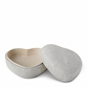 AERIN Shagreen Heart Box