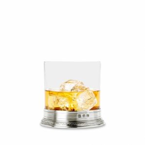 MATCH PEWTER Luisa Double Old Fashioned Glass Set Of 2
