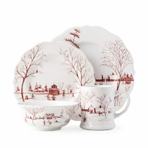 JULISKA Country Estate Winter Frolic Ruby 4 piece Setting
