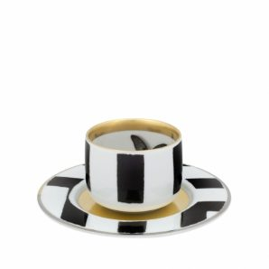 Sol Y Sombra Coffee Cup with Saucer Butterfly Set Of 4