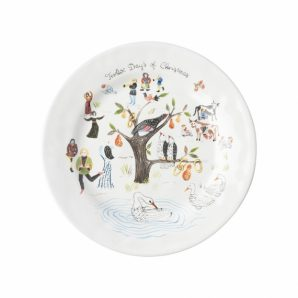 JULISKA Twelve Days of Christmas Dessert and Salad Plate Set Of 4