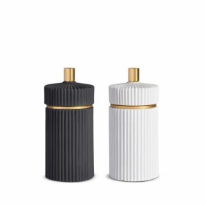 L'OBJET Ionic Black and White Salt and Pepper Mills