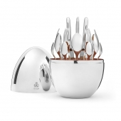 Christofle 24-Piece Silver Plated Flatware Set With Silver Storage Capsule Sliver