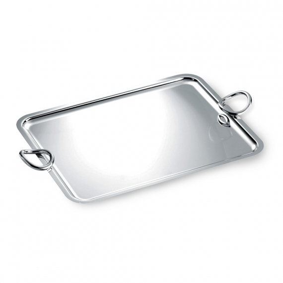 Extra Large Silver Plated Rectangular Tray with Handles