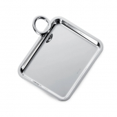 Christofle Silver Plated Single-Handle Tray Silver
