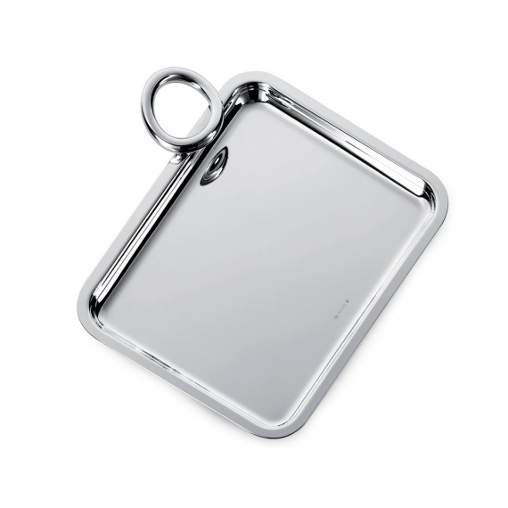 Silver Plated Single-Handle Tray