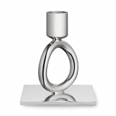 Christofle Silver Plated Single-Ring Candlestick Silver