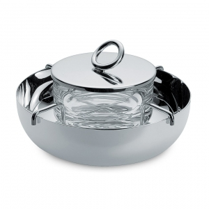Christofle Large Silver Plated Caviar Serving Set Silver