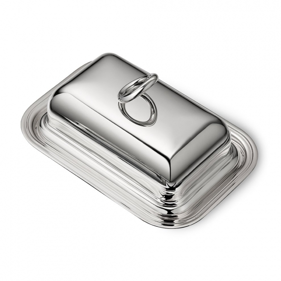 Silver Plated Butter Dish with Lid