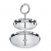 Christofle Silver Plated Two-Tier Dessert Stand Sliver