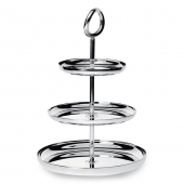 Christofle Silver Plated Three-Tier Dessert Stand Silver