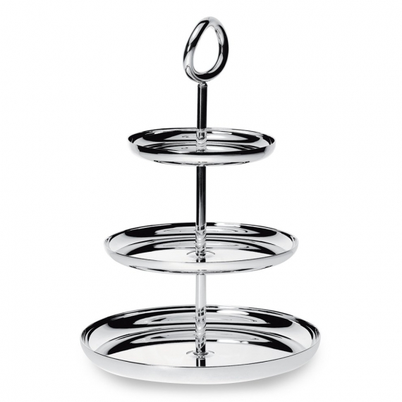 Silver Plated Three-Tier Dessert Stand