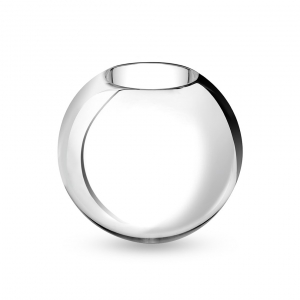 Christofle Small Metallized Glass Vase Clear