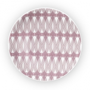 Christofle Porcelain Bread Plate Pink