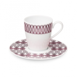 Christofle Porcelain Coffee Cup And Saucer Pink