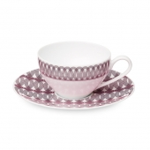 Christofle Porcelain Tea Cup And Saucer Pink