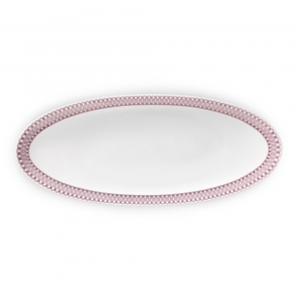 Christofle Small Porcelain Oval Platter Pink