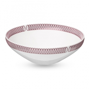 Christofle Porcelain Salad Bowl Pink