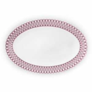 Christofle Large Porcelain Oval Platter Pink