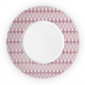 Christofle Porcelain Underplate Pink