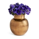 Aerin Textured Gold Sphere Vase