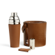 Ralph Lauren Cantwell Leather Ice Bucket Brown